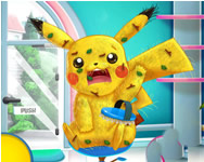 Pikachu doctor and dress up online játék