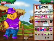 Pooh dress up online játék