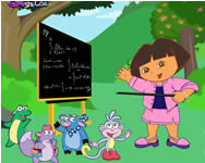 Teacher Dora dress up játék